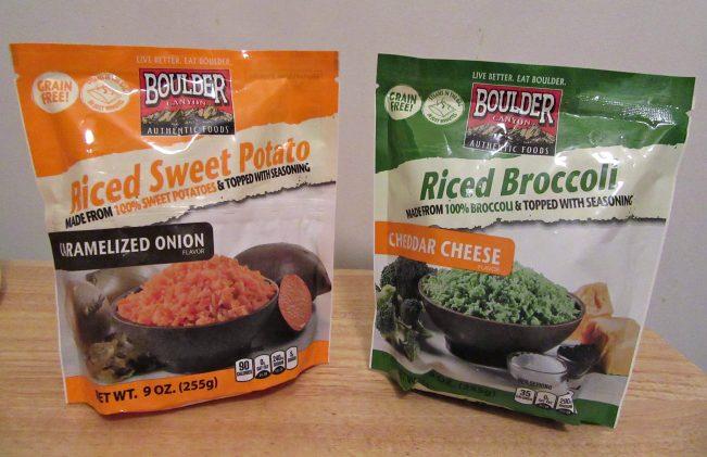 Boulder Canyon Riced Vegetables Packaging