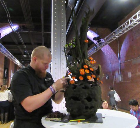 Chef with Centerpiece
