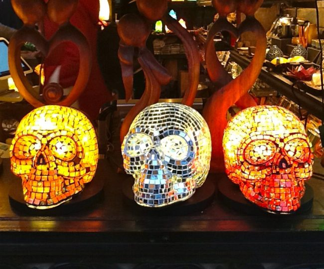 Mosaic Skull Lamps