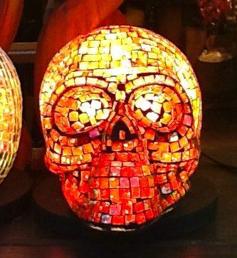 Mosaic Skull Lamp
