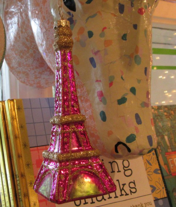 Pink Eiffel Tower Ornament