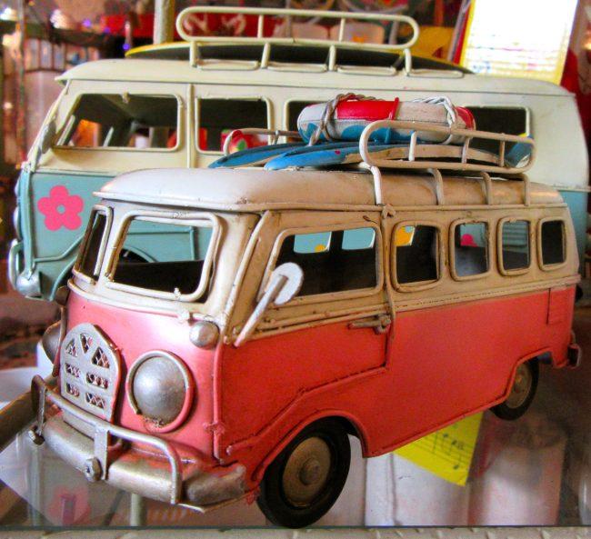 Pink VW Bus