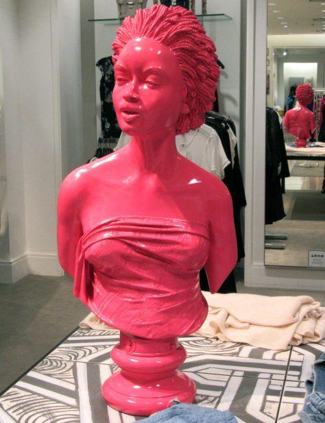 Pink Mannequin Bust
