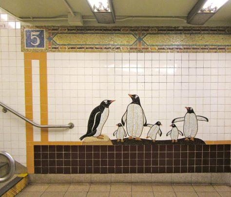 Mosaic Tile Penguins