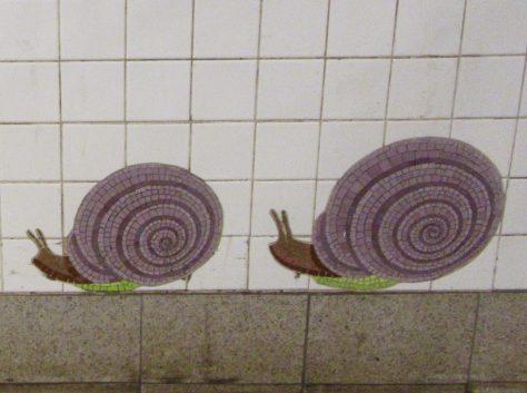 Snails Tile Mosaic Detail