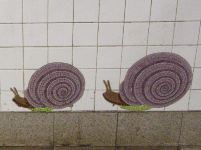 Snails Tile Mosaic Detail