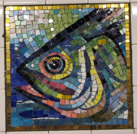 Fish Head Tile Mosaic