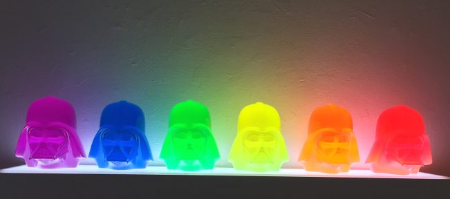 Rainbow Darth Vader Heads