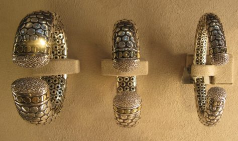 Silver Cuffs from the Dot Collection