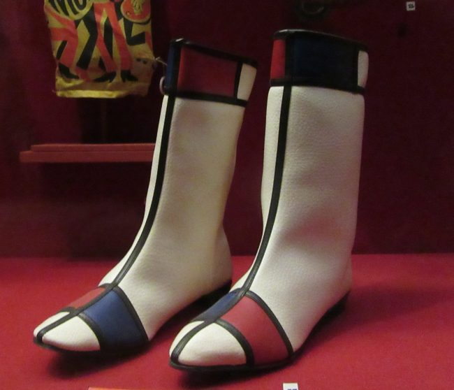 Hullabaloo Mondrian Inspired Hi Brow Boots