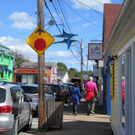 Shark Attack Street Sign