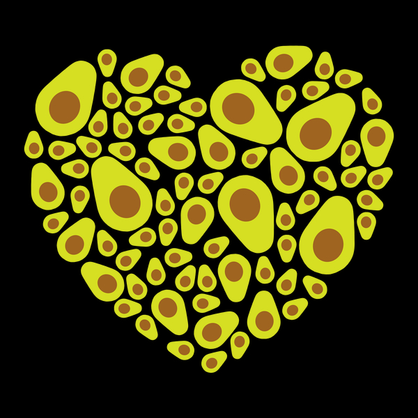 Avocado Heart T Shirt Design