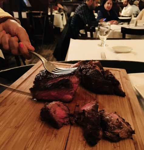 Steak On Carving Board