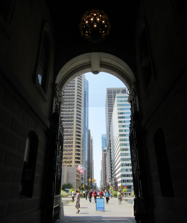 View from City Hall Pathway