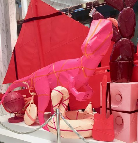 Pink Dinosaur Display