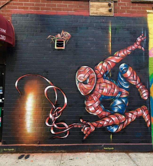 Spiderman Mural