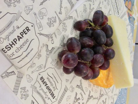 Fresh Paper With Fruit and Cheese