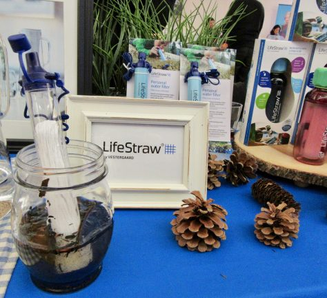 Life Straw Table Display