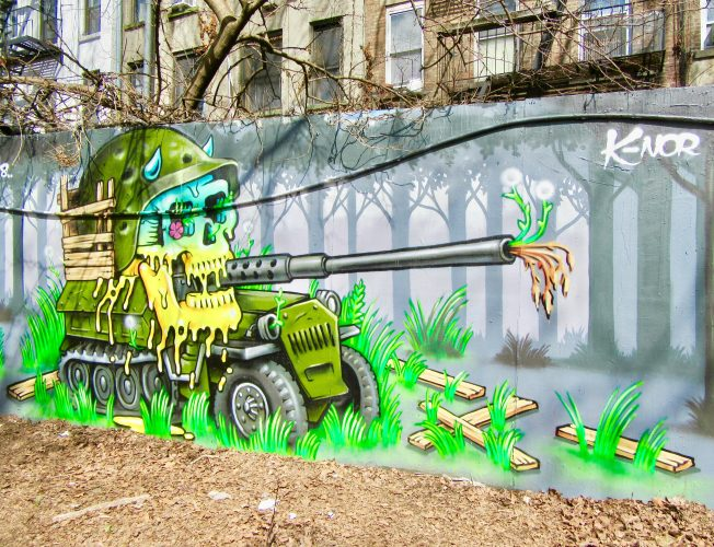 K-Nor Skull Tank Mural
