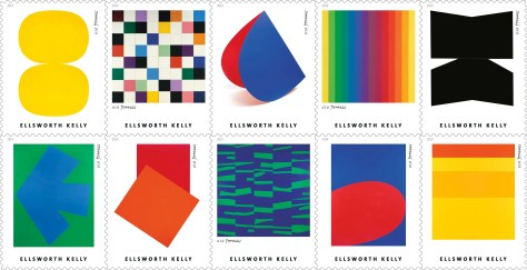 Ellsworth Kelly 2019 Postage Stamps