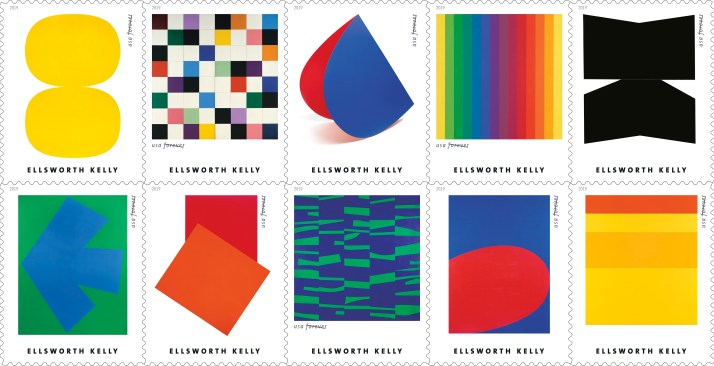 Ellsworth Kelly 2019 Postage Stamps