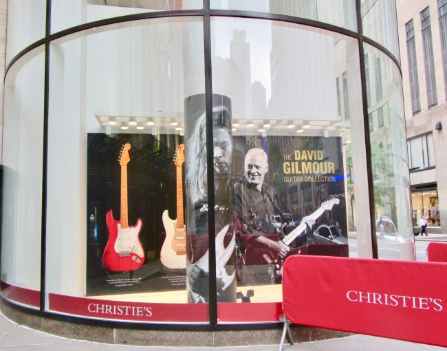 David Gilmour Guitar Collection at Christies