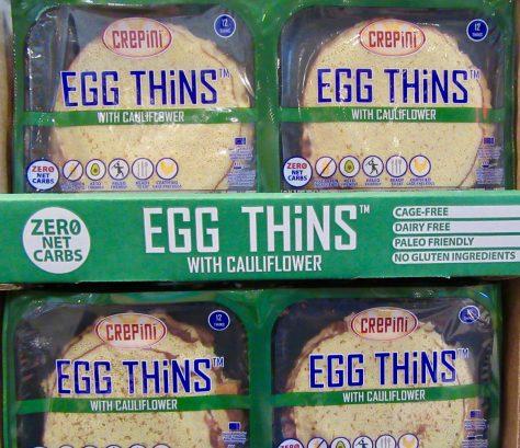 Egg Thins Cauliflower Crepes