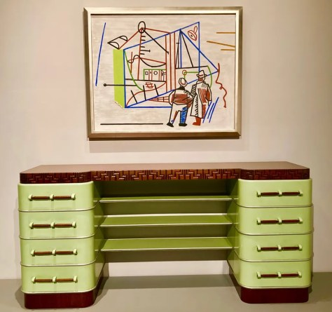 kem weber sideboard with stuart davis painting photo by gail worley