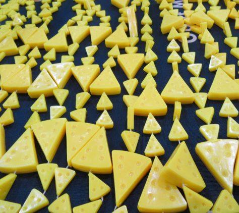 Cheese Shaped Mardi Gras Beads