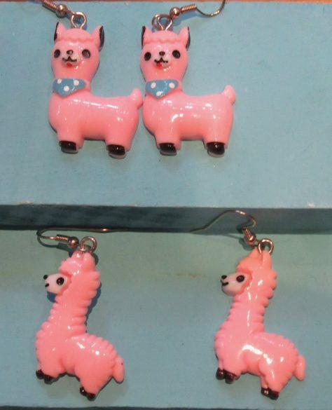 Pink Dog Earrings