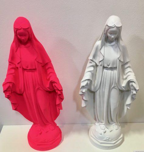 Malibu Barbie Virgin Mary Sculptures