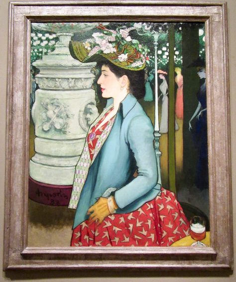 An Elegant Woman at the Élysée Montmartre
