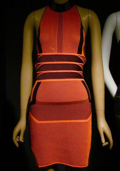 Alexander Wang Orange Mesh Mini Dress