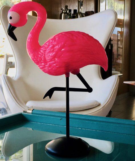Pink Flamingo Tabletop Statue
