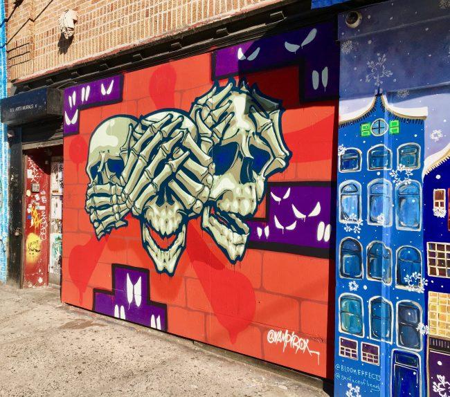 Skulls Mural Allen Street By Gail Worley