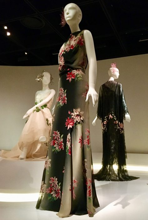 floral appliquéd evening dress by chanel photo by gail worley