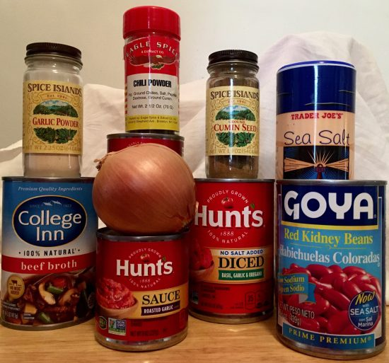 Chili Ingredients Photo By Gail Worley