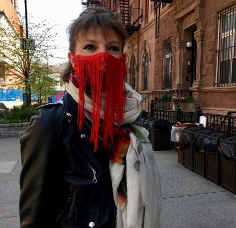 delphine in fancy mask photo by gail