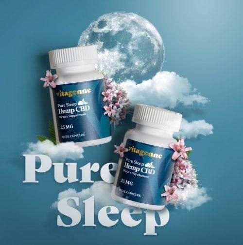 vitagenne pure sleep hemp cbd capsules