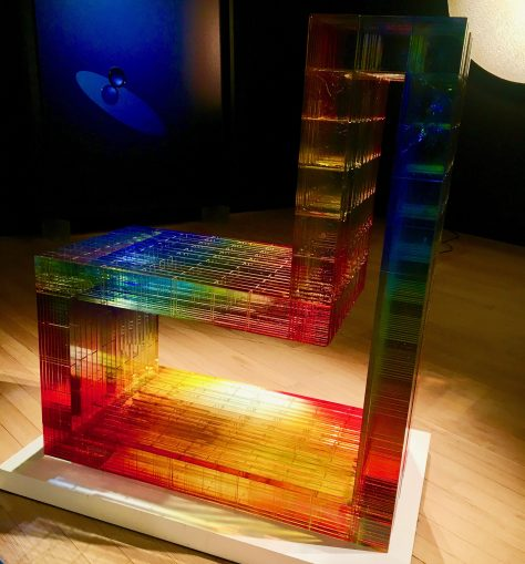 minosse glass block chair photo by gail worley