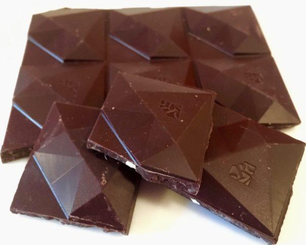 red orange almond dark chocolate unwrapped photo by gail worley