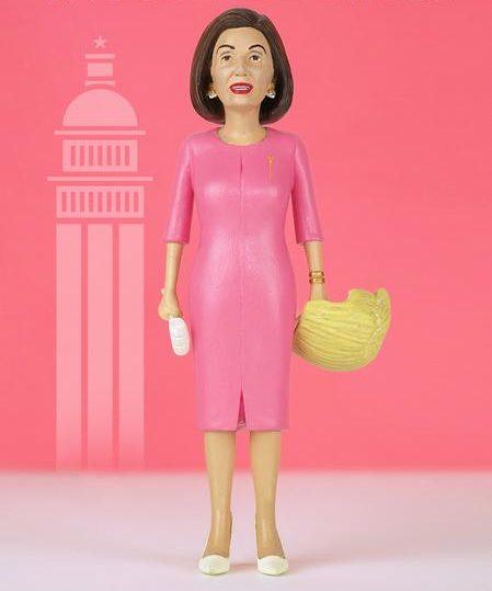 nancy pelosi action figure pink