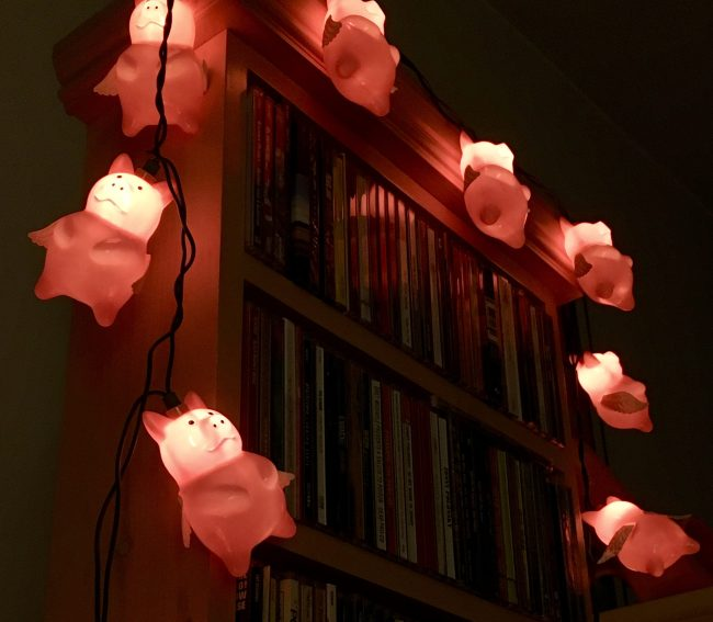 pig string lights photo by gail