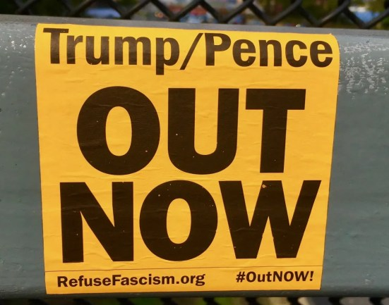 dump pence out now photo by gail worley