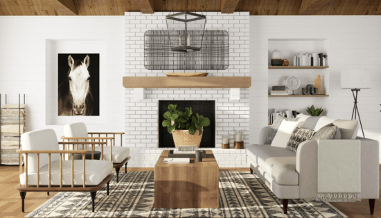 farmhouse style with modern traditionalist twists