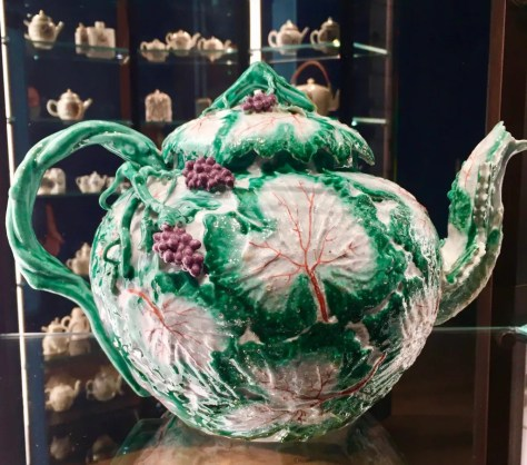 ceramic cabbage teapot photo by gail worley