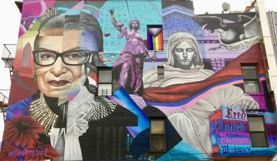completed rbg mural close up photo by gail worley
