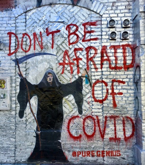 dont be afraid of covid mural photo by gail worley