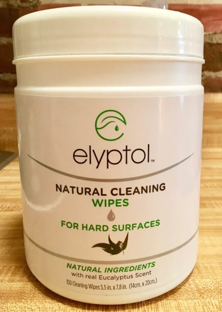 elyptol wipes package photo by gail worley