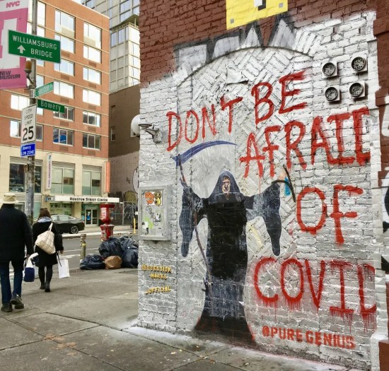 dont be afraid of covid photo by gail worley